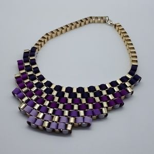 Woven box chain link necklace
